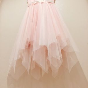 fae4954a4 Lilt Dresses | Zulily Girls Blush Pink Handkerchief Dress | Poshmark